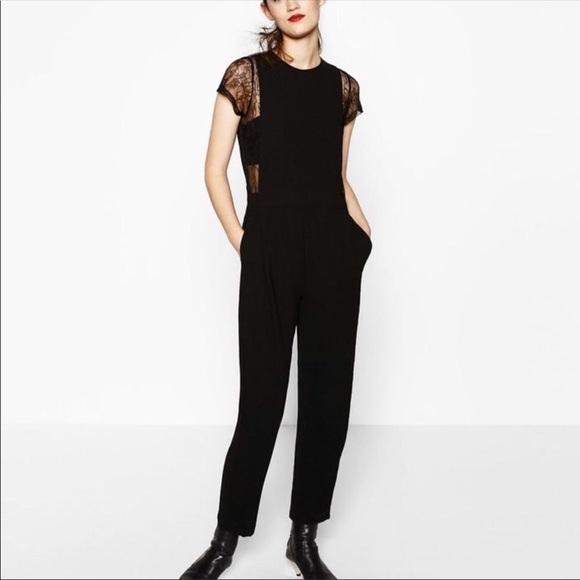 b7df2f7e9294 NWOT Black Zara jumpsuit